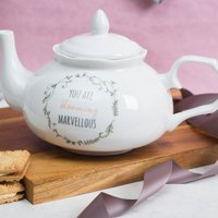 Personalised Bone China Fancy Teapot - Blooming Marvellous - Teapot Gifts