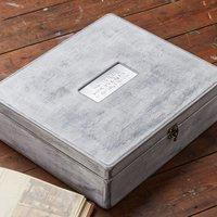 Personalised Whitewashed Wood Keepsake Box - Wood Gifts