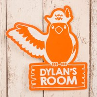 Personalised Orange Room Sign - Parrot - Parrot Gifts