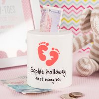 Personalised Ceramic Money Box - First Money Box - Money Box Gifts