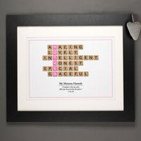 Personalised Mother Scrabble Print - Scrabble Gifts