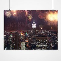 Personalised New York Fireworks Print - New York Gifts