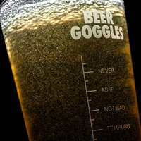 Personalised Pint Glass - Beer Goggles - Beer Gifts