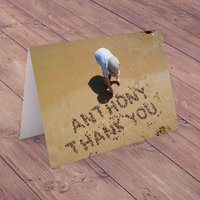 Personalised Card - Thank You - Stones in the Sand - Sand Gifts