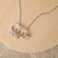 Symbology Infinity Love Happy Anniversary 18ct White Gold Necklace