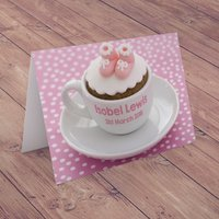 Personalised Card - Baby Girl Cup - Cup Gifts