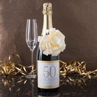 Personalised Luxury Anniversary Champagne - 50 Years Married