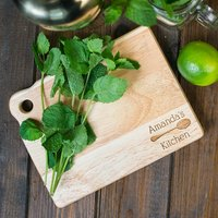 Personalised Mini Wooden Chopping Board - My Kitchen - Chopping Board Gifts
