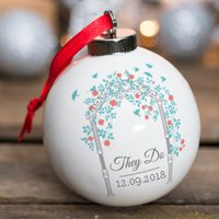 Personalised Bone China Bauble - Wedding Arch - Wedding Gifts