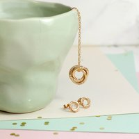 Personalised Posh Totty Designs Mini Russian Ring Necklace & Earring Set - Posh Gifts