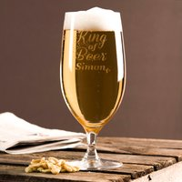 Personalised Cabernet Stem Beer Glass - King of Beer - Beer Glass Gifts