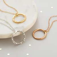 Personalised Posh Totty Designs Circle Necklace - Posh Gifts