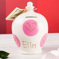 Personalised Terramundi Multiple Heart Money Pot - Money Gifts