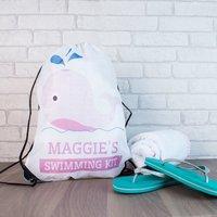 Personalised Drawstring Bag - Swimming Kit - Swimming Gifts