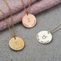 Personalised Posh Totty Designs Large Zodiac Necklace - Posh Gifts
