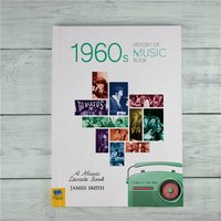Personalised 1960s History Of Music Book - Music Gifts