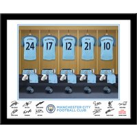 Personalised Manchester City Dressing Room Print - Manchester City Gifts