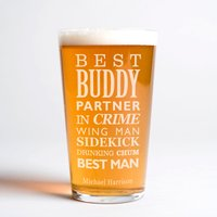 Personalised Pint Glass - Best Man - Best Man Gifts