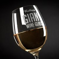 Engraved Giant Wine Glass - For Her - Wine Glass Gifts