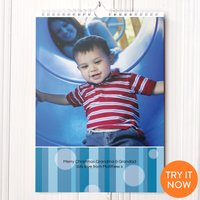 'Photo Upload Calendar - Blue Stripes