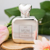 Personalised Perfume Atomiser With Heart Lid - No. 1 Mum - Perfume Gifts