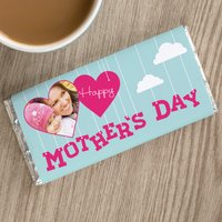 Personalised Chocolate Bar - Mother's Day Clouds