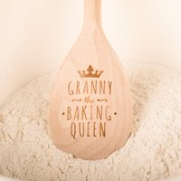 Image of Engraved Wooden Spoon - Baking Crown