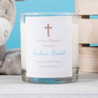 Personalised Scented Candle - Have a Blessed Easter