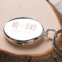 Engraved Photo Key Ring - Me and My Dad - Key Ring Gifts