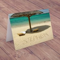 Personalised Card - Sandy Beach - Beach Gifts