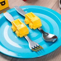 Digger Shaped Kids Cutlery Set - Eating Gifts