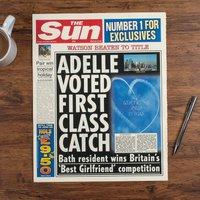 The Sun Personalised Spoof Newspaper Article - Best Girlfriend - Newspaper Gifts