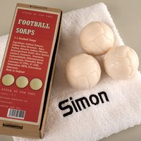 Football Soaps With Personalised Hand Towel - Football Gifts