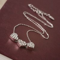 Symbology Infinity Love Happy Birthday 18ct White Gold Necklace