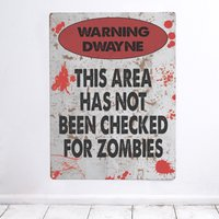 Personalised 'Zombies' Metal Sign - Zombies Gifts
