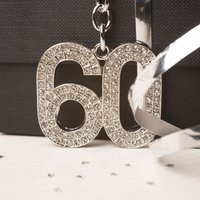 Crystal Keyring - 60th Birthday - 60th Birthday Gifts