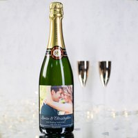Luxury Photo Upload Champagne - Wedding Anniversary - Wedding Anniversary Gifts