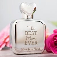 Personalised Perfume Atomiser With Heart Lid - The Best Mum Ever - Perfume Gifts