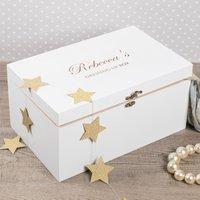 Personalised Large White Wooden Keepsake Box - Keepsake Gifts