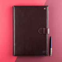 Embossed Gallo A4 Italian Leather Padfolio - Italian Gifts