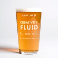 Personalised Pint Glass - Creativity Fluid - Creativity Gifts