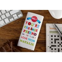 Personalised Chocolate Bar - You're The Best Friend On The Planet - Best Friend Gifts