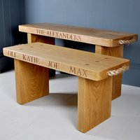 Personalised Solid Oak Bench - Bench Gifts