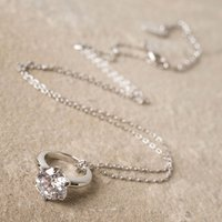 Symbology Infinity Love Engagement 18ct White Gold Necklace