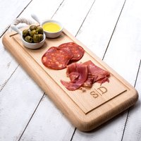 Personalised Rectangular Chopping Board With Rope Handle - Chopping Board Gifts