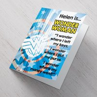 Personalised Card - Wonder Woman - Woman Gifts