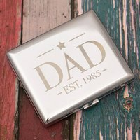 Engraved Cigarette Case - Dad Est. - Cigarette Gifts