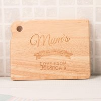 Personalised Mini Chopping Board - Any Name's Kitchen - Chopping Board Gifts
