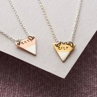 Personalised Posh Totty Designs Ombre Triangle Necklace - Posh Gifts