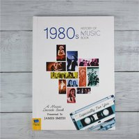 Personalised 1980s History Of Music Book - Music Gifts